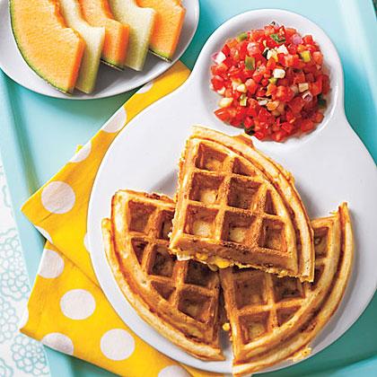 Corn and Cheddar Waffles