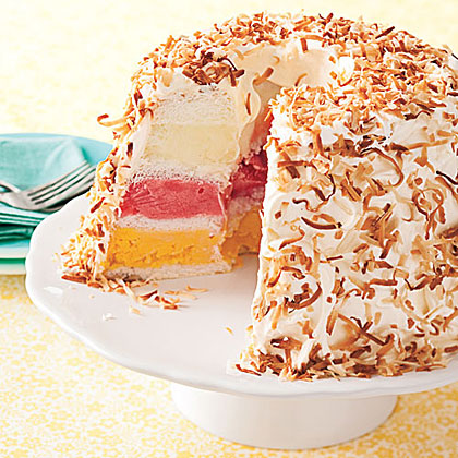Tropical Sherbet Cake Recipe