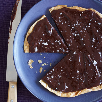 <p>Chocolate-Salted Caramel Tart</p>