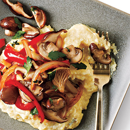 Blue Cheese Polenta with Vegetables Recipe