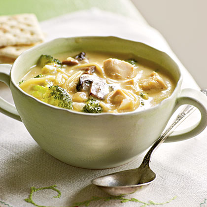 Broccoli and Chicken Noodle Soup Recipe