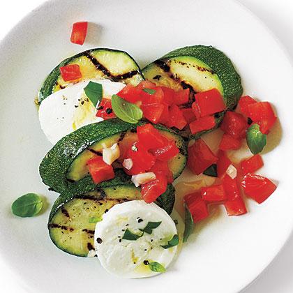 "Caprese ""Salsa"" Zucchini with Sea Salt"