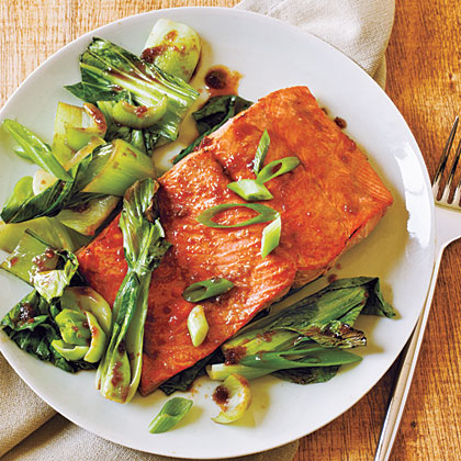 Salmon and Bok Choy