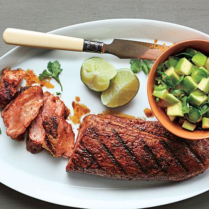 Spanish Pork with Apple-Citrus Salsa