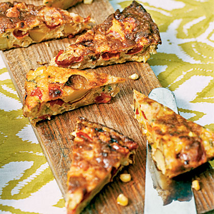 Spanish Tortilla With Corn Tomato And Potato
