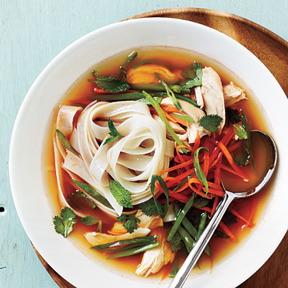 Spicy Asian Chicken and Noodle Soup Recipe | MyRecipes