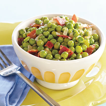 Spring Peas with Pancetta Recipe