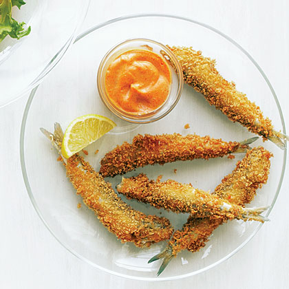 Anchovy Fries with Smoked Paprika Aioli Recipe