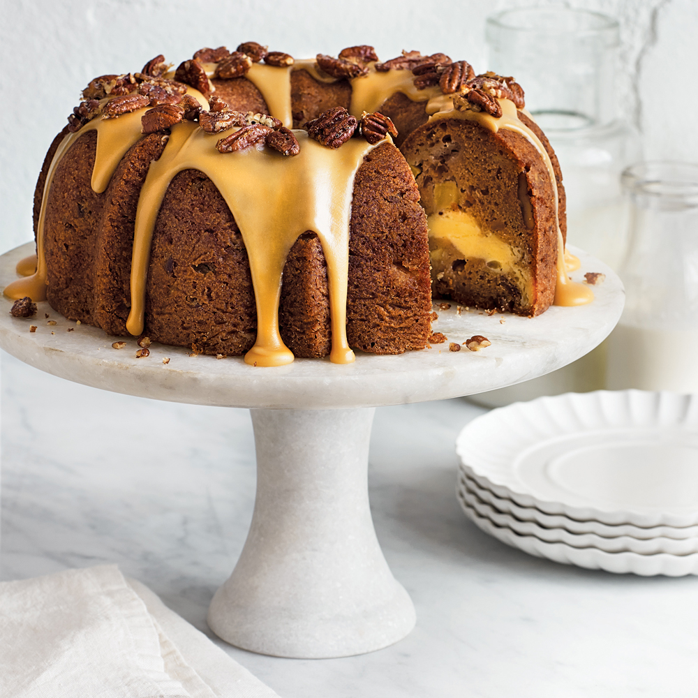 Apple-Cream Cheese Bundt Cake Recipe | MyRecipes