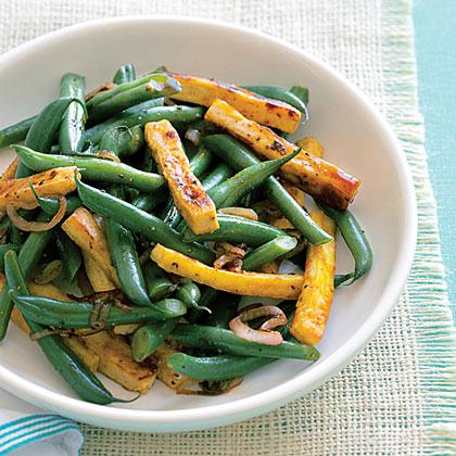 Black Pepper Tofu and Green Beans