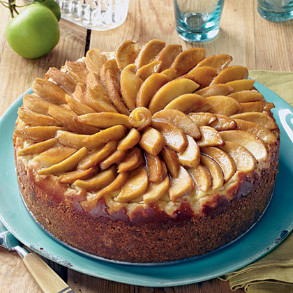 "Caramel-Apple Cheesecake RecipeHere's what we love about this creamy cheesecake: the cinnamon graham cracker-pecan crust, the caramel apple slices on the top, and the apple jelly glaze that's drizzled over the top. According to one online reviewer, this cheesecake is full of good apple flavor that just screams ""Autumn."""
