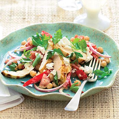 Grilled Chicken Greek Salad Recipe   MyRecipes