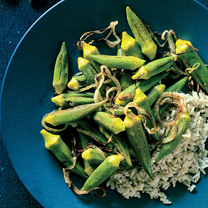 Indian Spice-Stuffed Okra