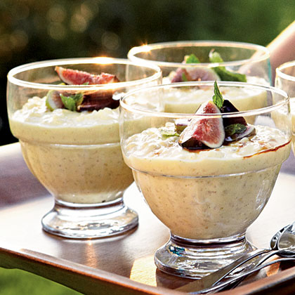 Lemony Rice Pudding with Figs and Saba