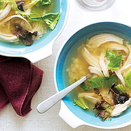 Mesclun Chicken Soup Recipe