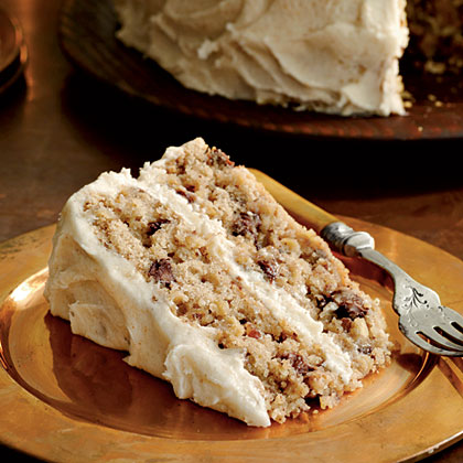 Mocha-Apple Cake with Browned Butter Frosting Recipe