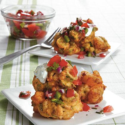 Okra-Shrimp Beignets