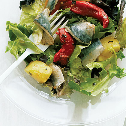 Pickled Fish Salad with Potatoes and Greens