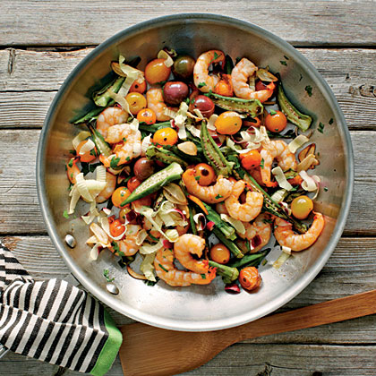 Skillet-Roasted Okra and Shrimp Recipe - 0 | MyRecipes.com