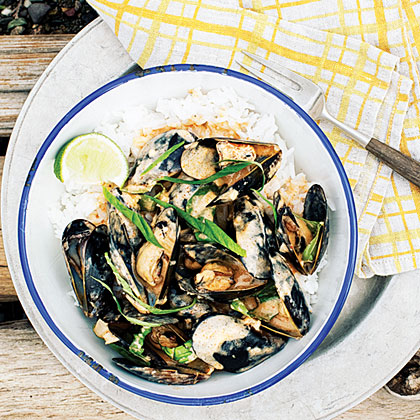 Thai Red Curry Mussels Recipe | MyRecipes.com