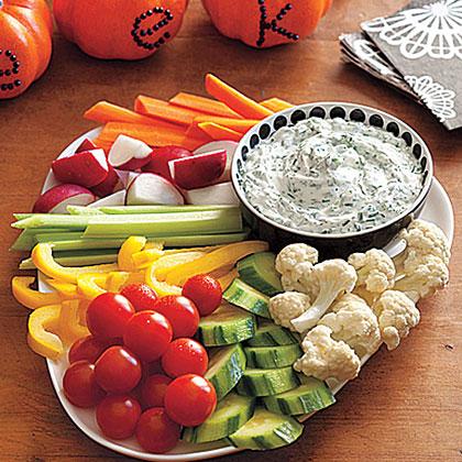 Buttermilk-Herb Dip with Crudites Recipe