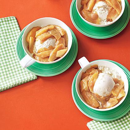 Honeyed Apples with Ice Cream Recipe