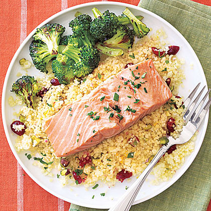 Salmon and Couscous Packets Recipe