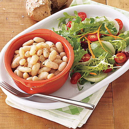 Slow-Cooker Tuscan Beans Recipe