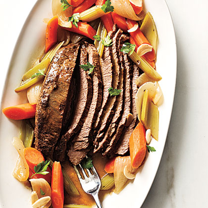 Beer-Braised Brisket RecipeServe this deliciously rich beef over mashed potatoes or egg noodles. Leftover brisket makes tasty sandwiches.
