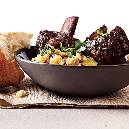 Cabernet Short Ribs with Parmesan Polenta