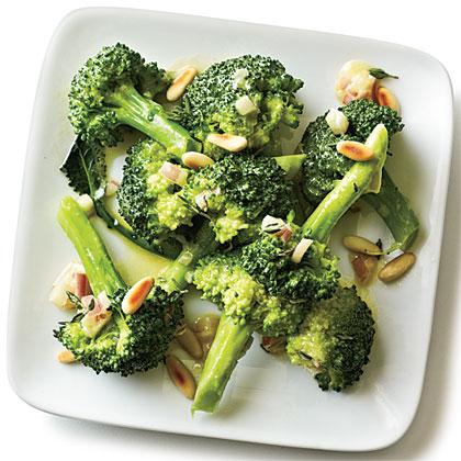 Dijon, Thyme, and Pine Nut Broccoli