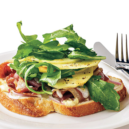 Serrano, Manchego, and Apple Sandwiches