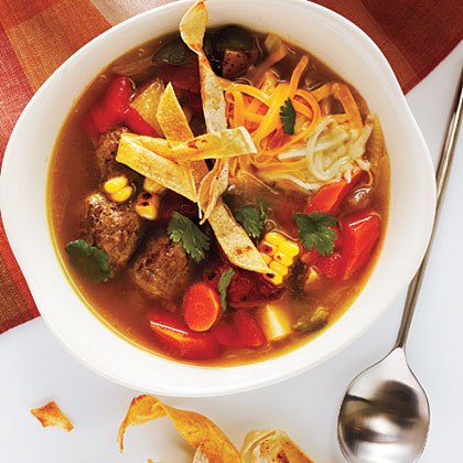 Tortilla Meatball Soup Recipe - Photo: John Autry