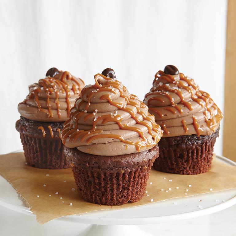 Caramel-Mocha-Sea Salt Cupcakes