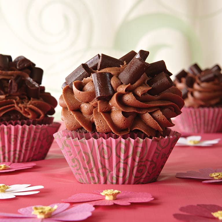 Chocolate-Chocolate Chunk CupcakesRecipe