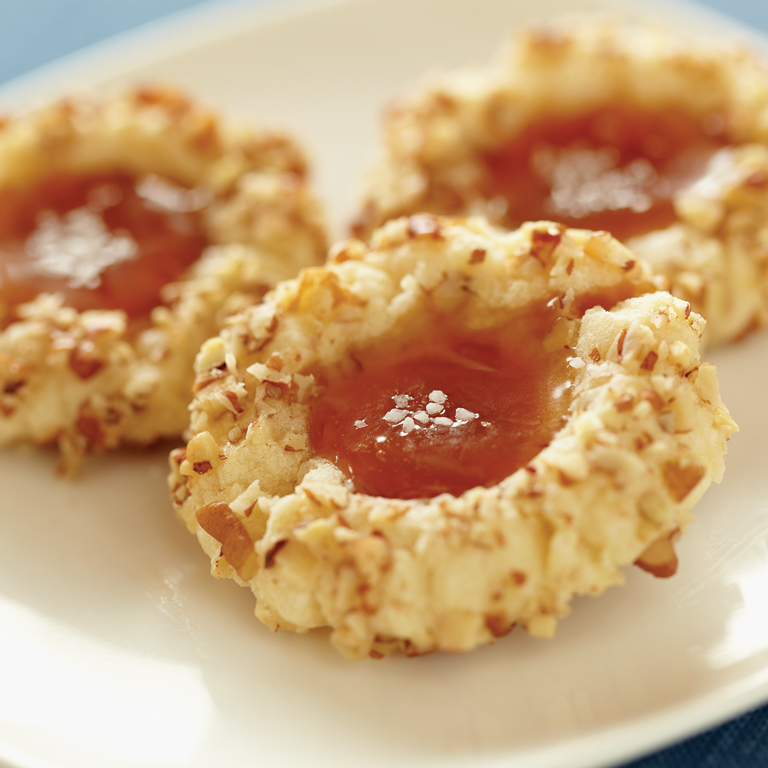 Salted Caramel Thumbprint Cookie