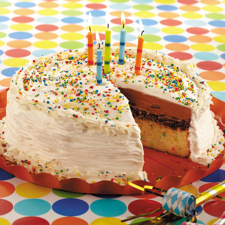 Ice Cream Cake Icing Recipes With Pictures: Funfetti Confetti Ice Cream Cake Recipe