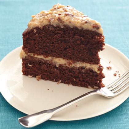 Light German Chocolate Cake