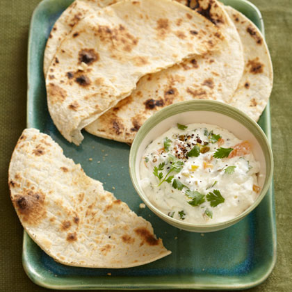 <p>Mexican Ricotta Spread with Grilled Tortillas</p>
