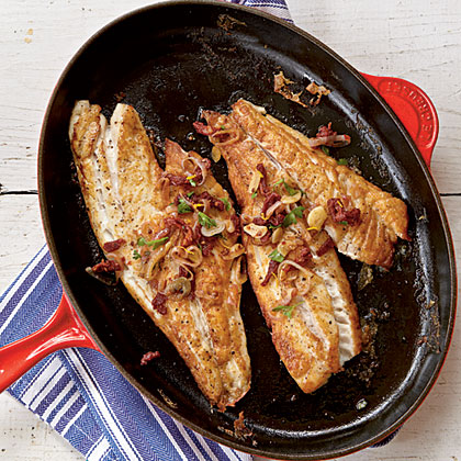 Pan-Roasted Snapper Fillets with Sun-Dried Tomatoes and Garlic