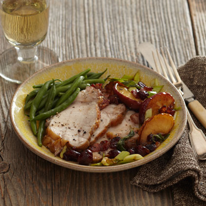 <p>Pork Loin with Apple-Cranberry Chutney</p>