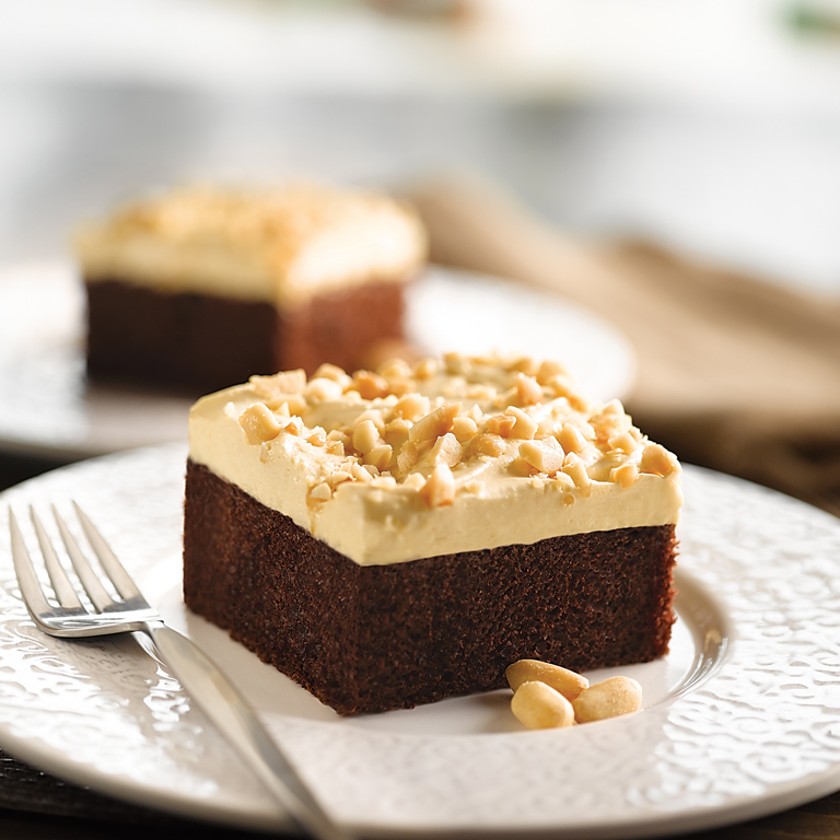 Peanut Butter Topped Chocolate Cake
