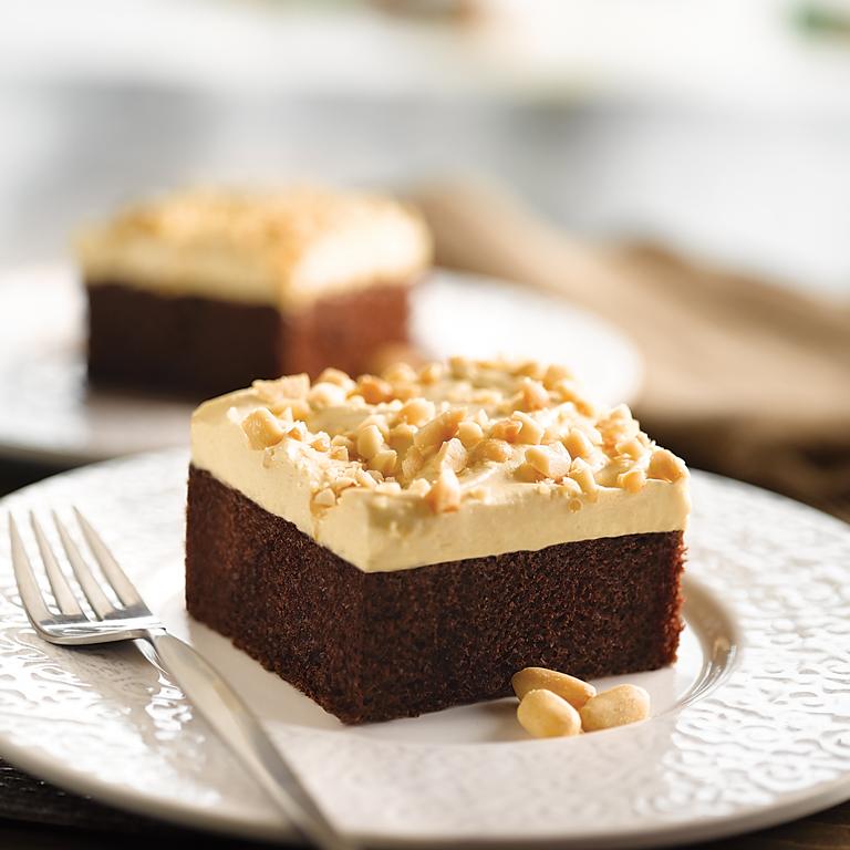 Peanut Butter Topped Chocolate Cake Recipe