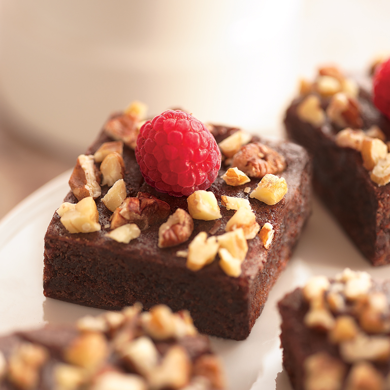 Raspberry Nut Brownies