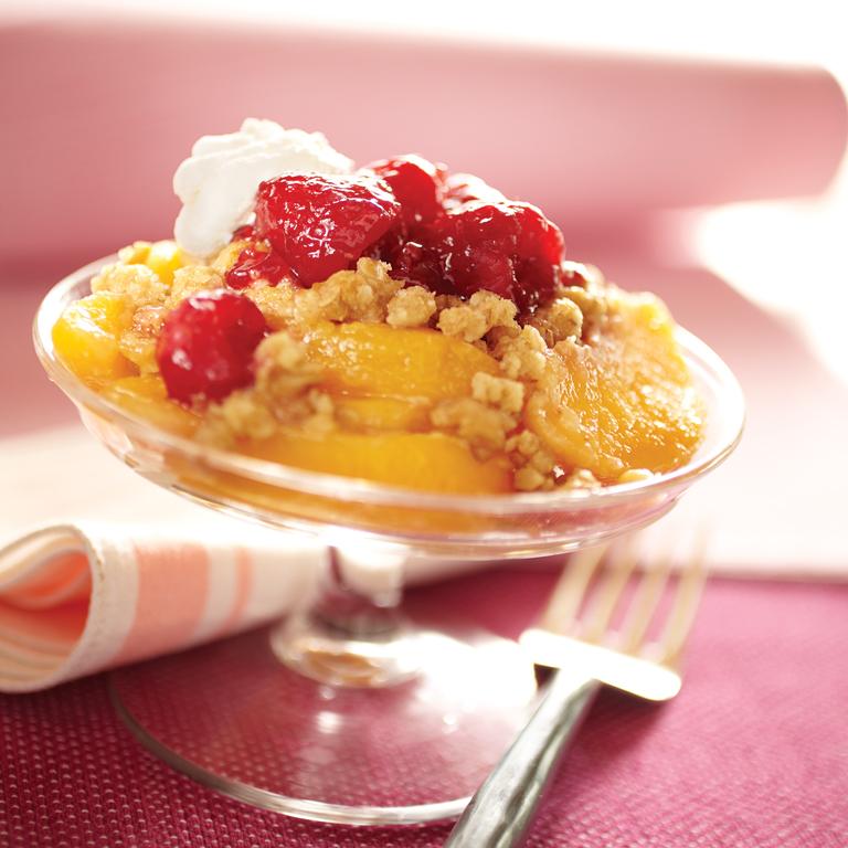 Rasberry-Peach Crisp
