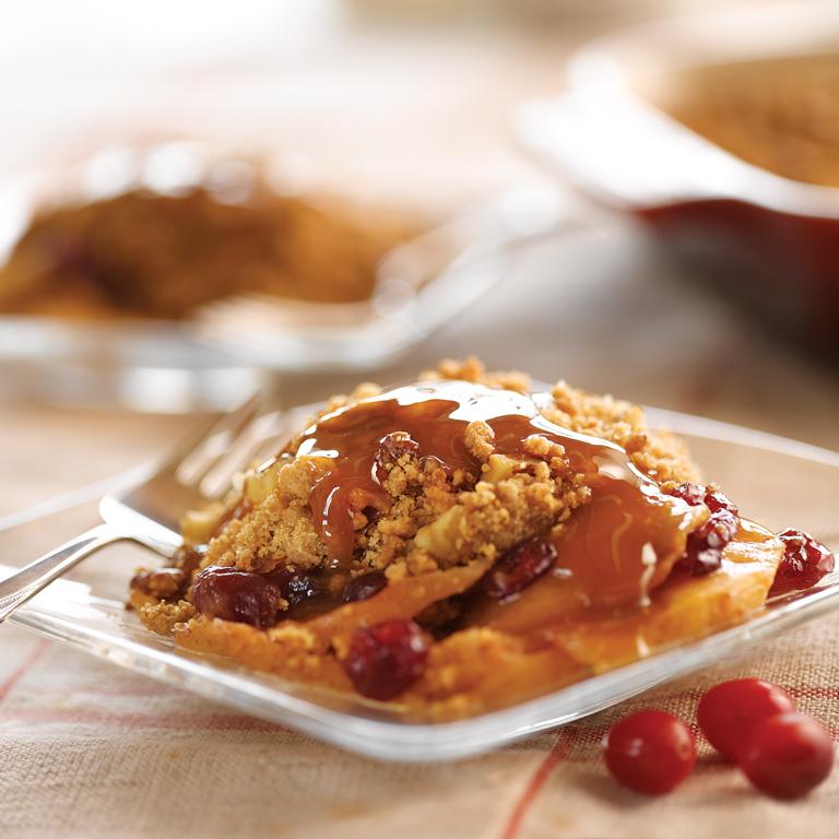 Apple Cranberry Peanut Butter Crisp
