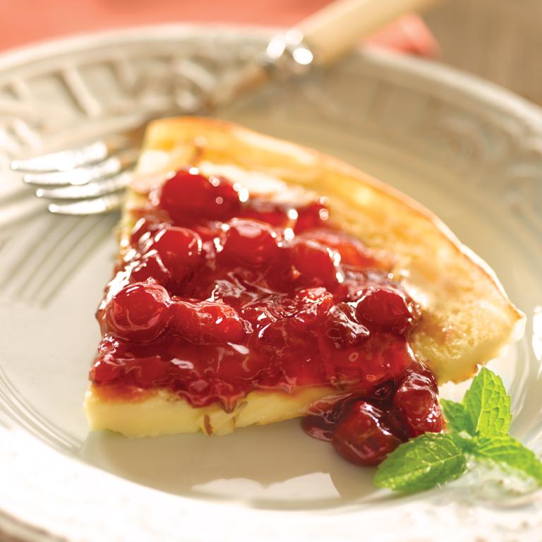 Cherry Almond Dutch Baby Recipe | MyRecipes