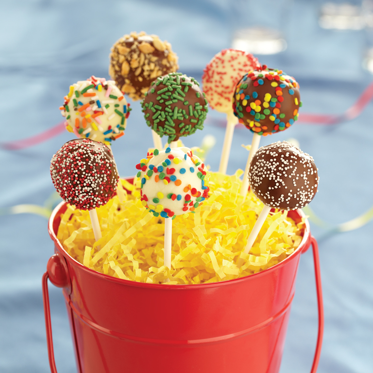 Festive Brownie Pops