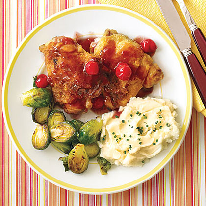 Chicken Thighs with Cherry Sauce Recipe