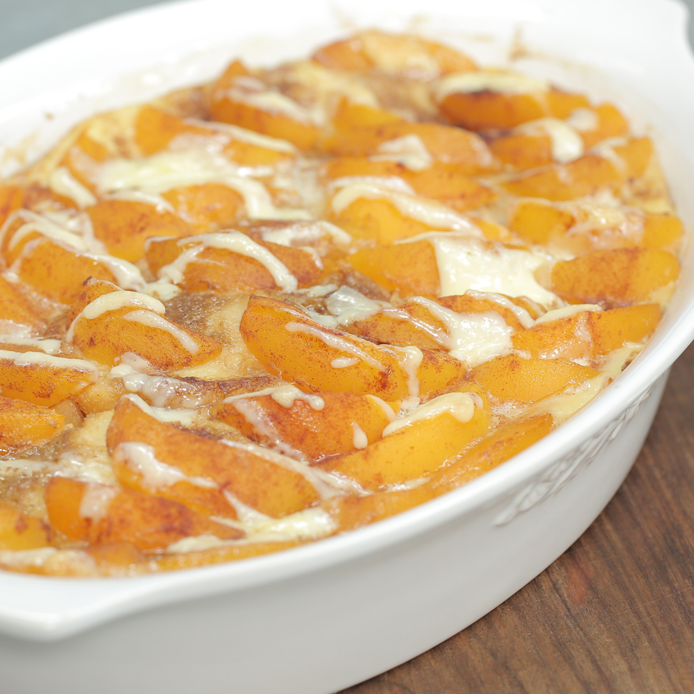 Overnight Peaches-and-Cream French Toast Recipe